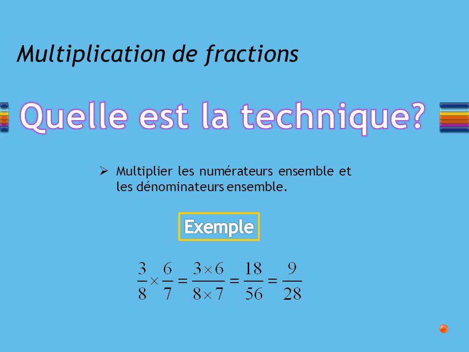 Multiplication de fractions