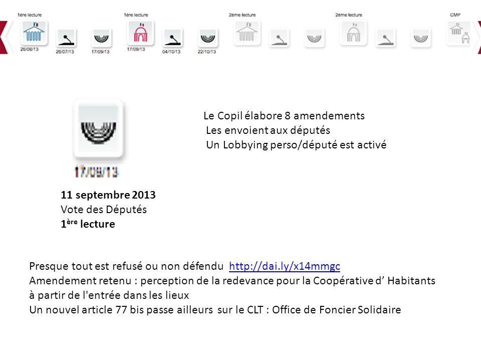 Le Copil élabore 8 amendements Les envoient aux députés
