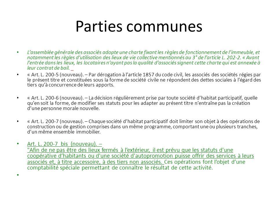 Parties communes