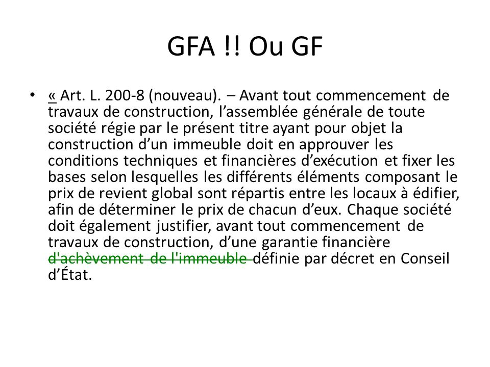 GFA !! Ou GF