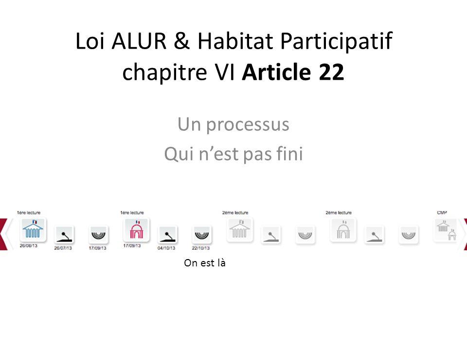 Loi ALUR & Habitat Participatif chapitre VI Article 22