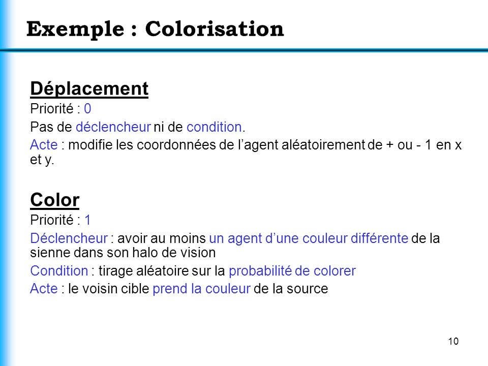 Exemple : Colorisation