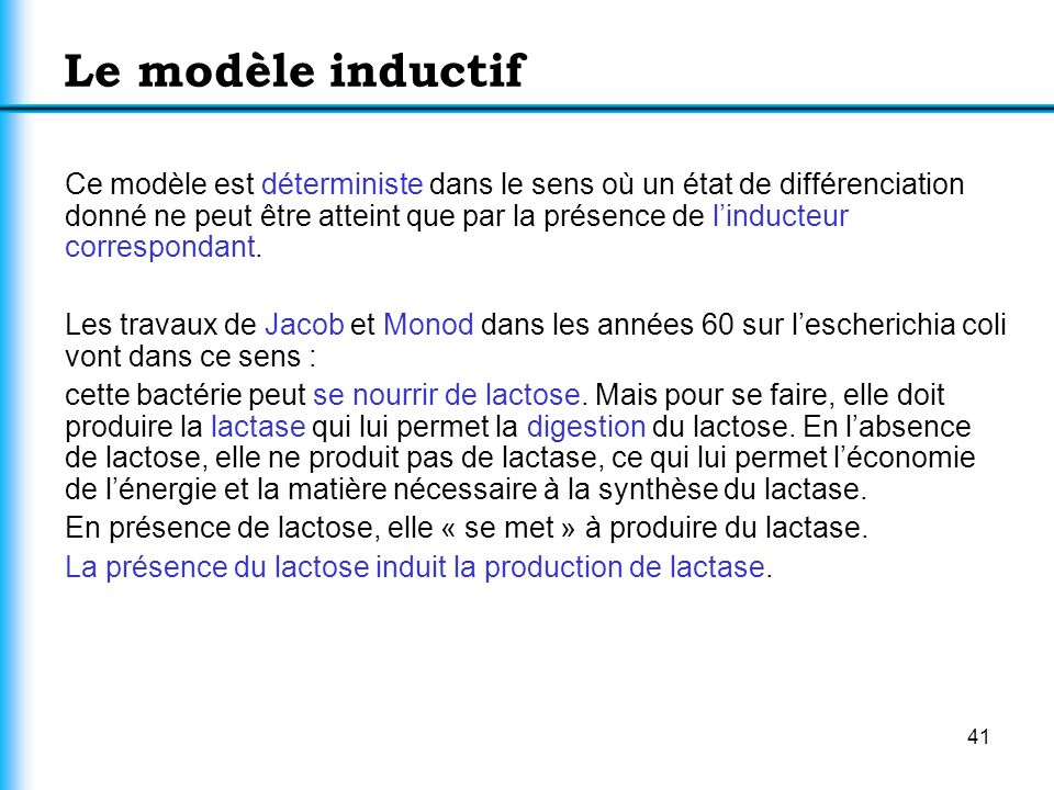 Le modèle inductif