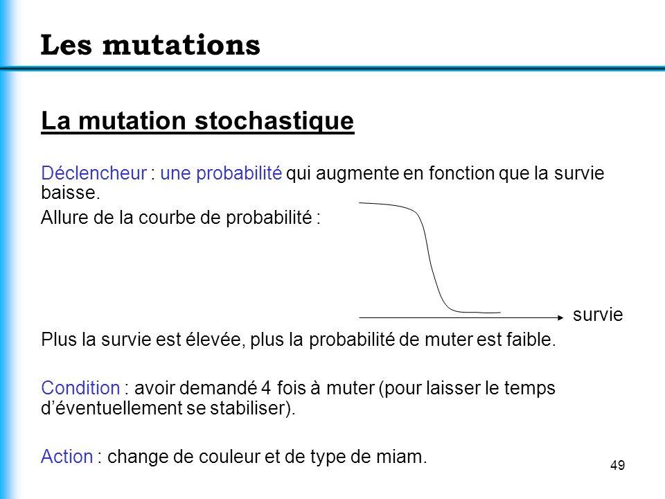 Les mutations La mutation stochastique