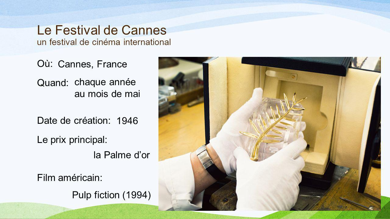 Le Festival de Cannes un festival de cinéma international