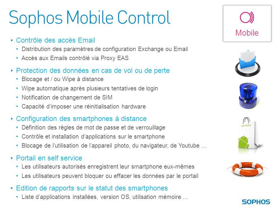 Sophos Mobile Control Mobile Contrôle des accès Email
