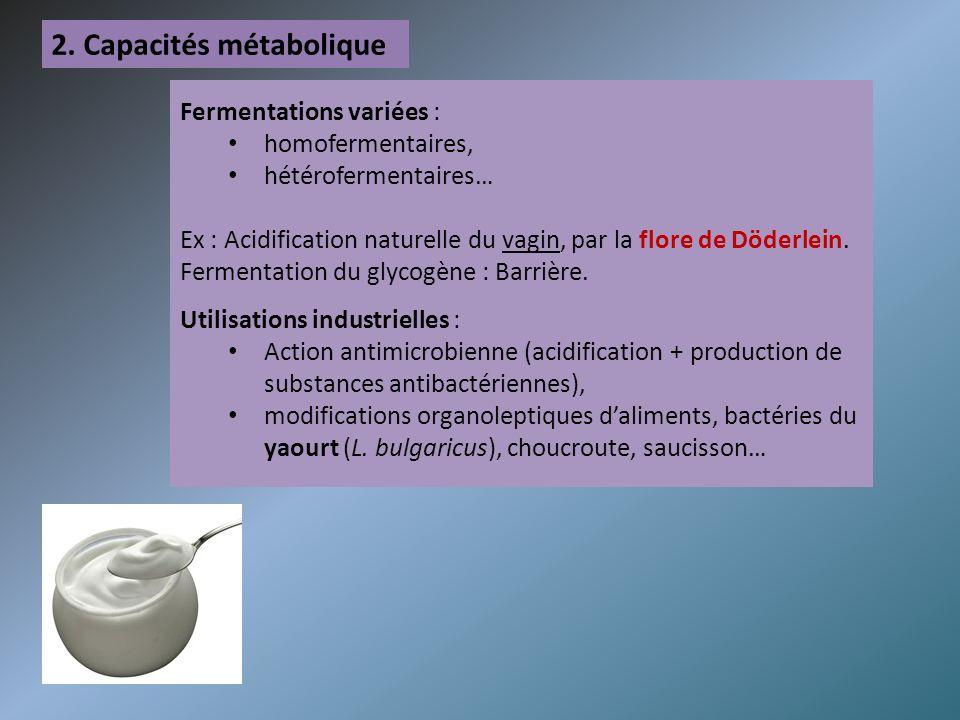 2. Capacités métabolique