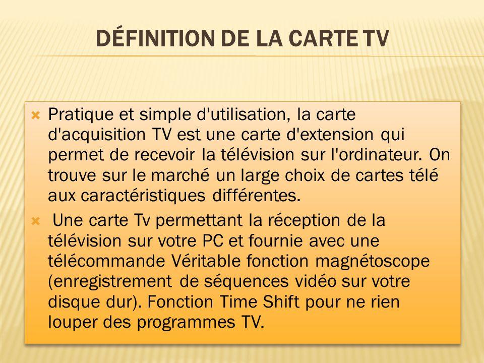 Définition de la carte TV