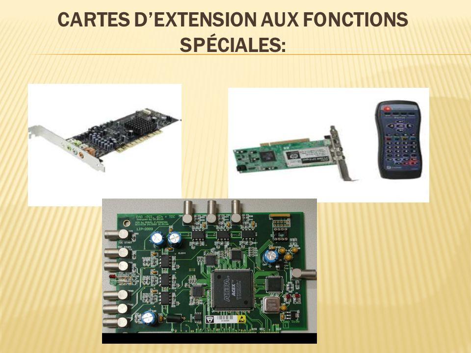 Cartes d'extension aux fonctions spéciales: