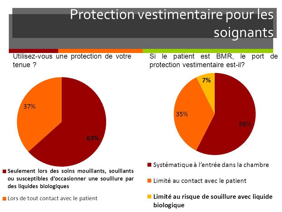 Protection vestimentaire pour les soignants