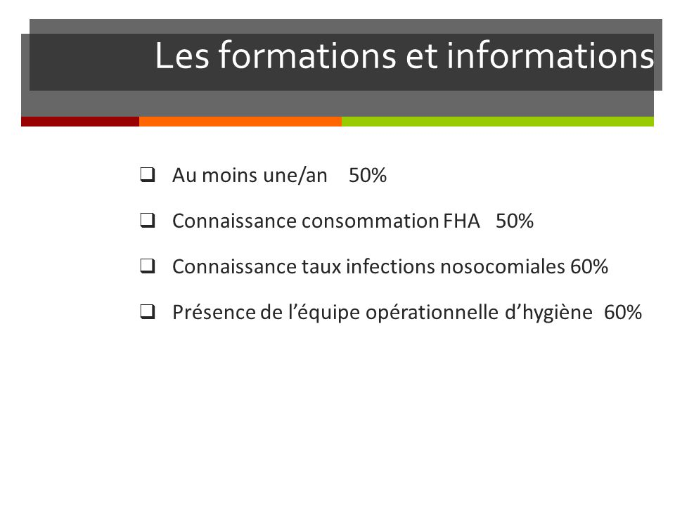 Les formations et informations