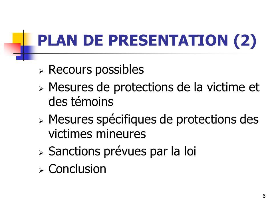 PLAN DE PRESENTATION (2)