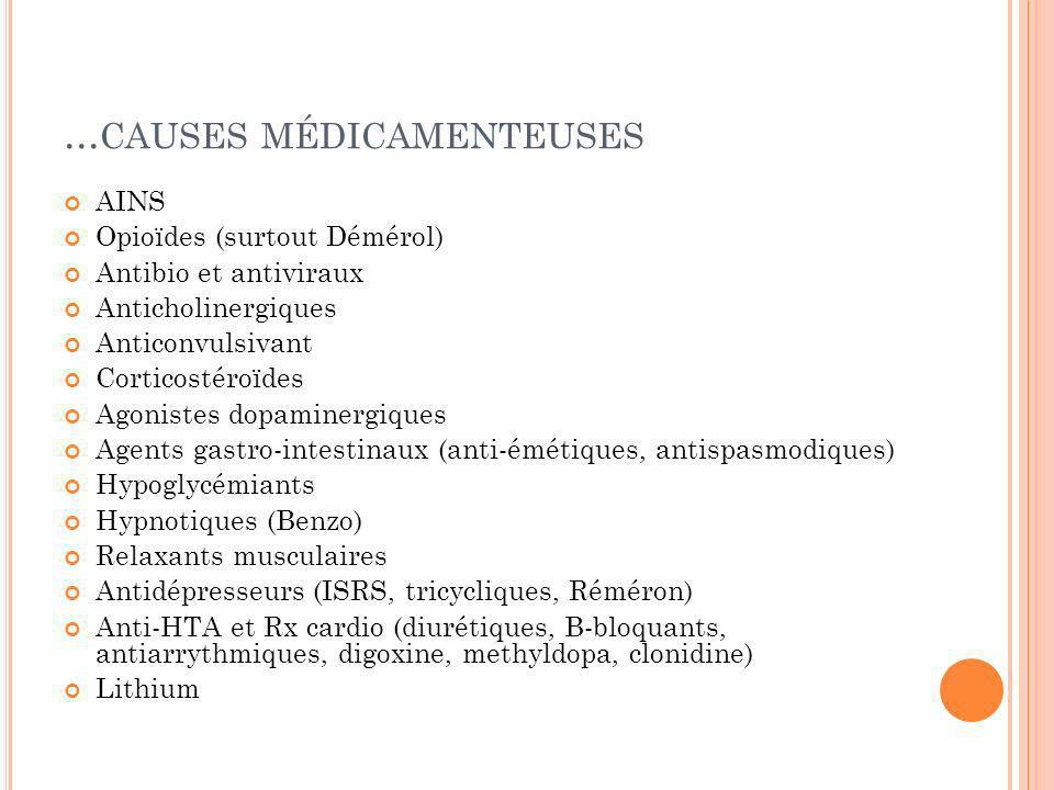 ...causes médicamenteuses