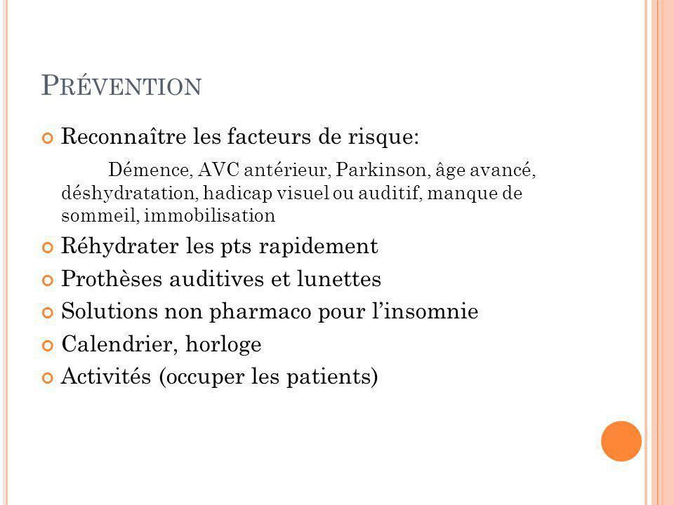 Prévention Reconnaître les facteurs de risque: