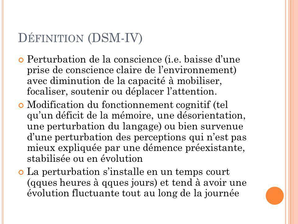 Définition (DSM-IV)