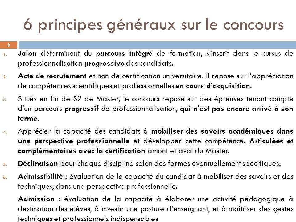 6 principes généraux sur le concours