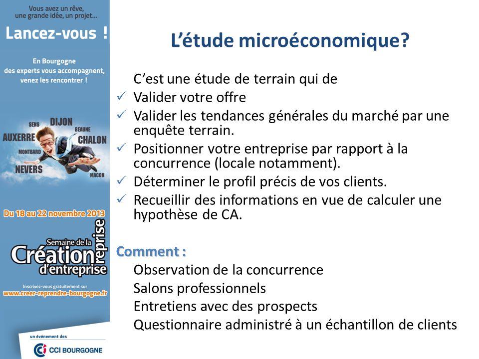 L'étude microéconomique