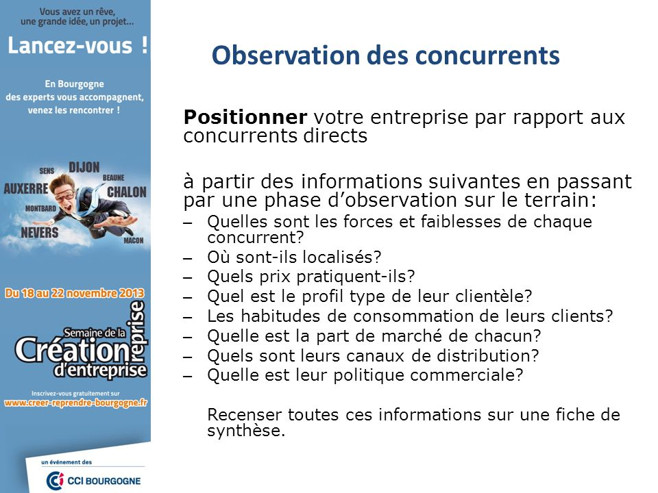 Observation des concurrents