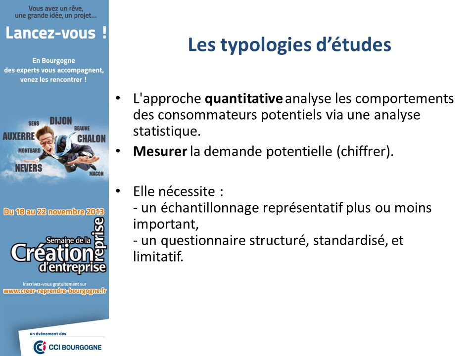 Les typologies d'études