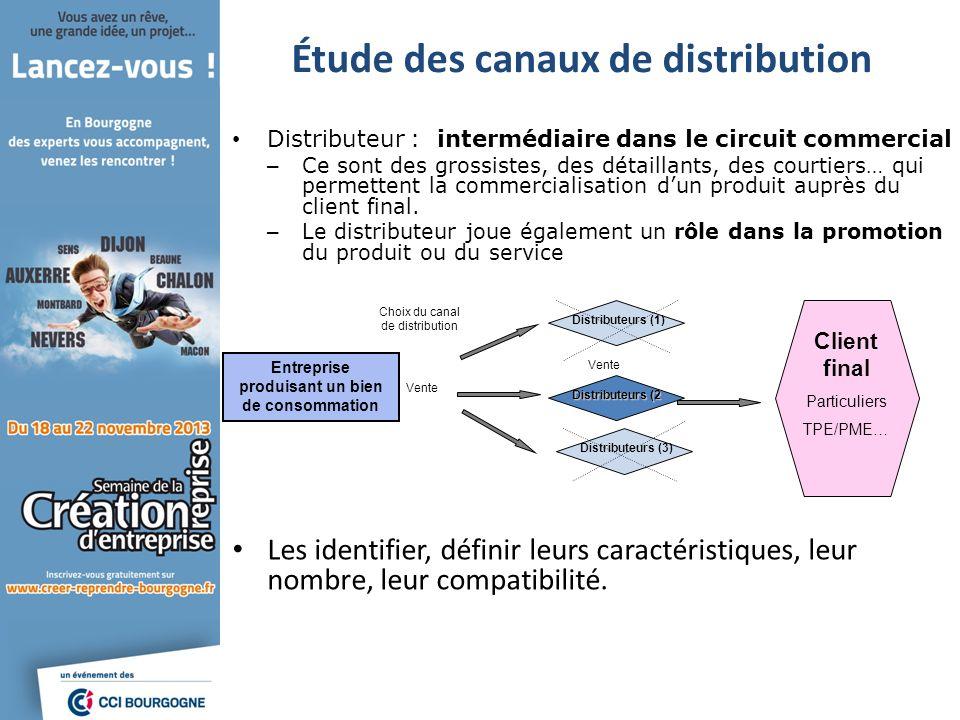 Étude des canaux de distribution