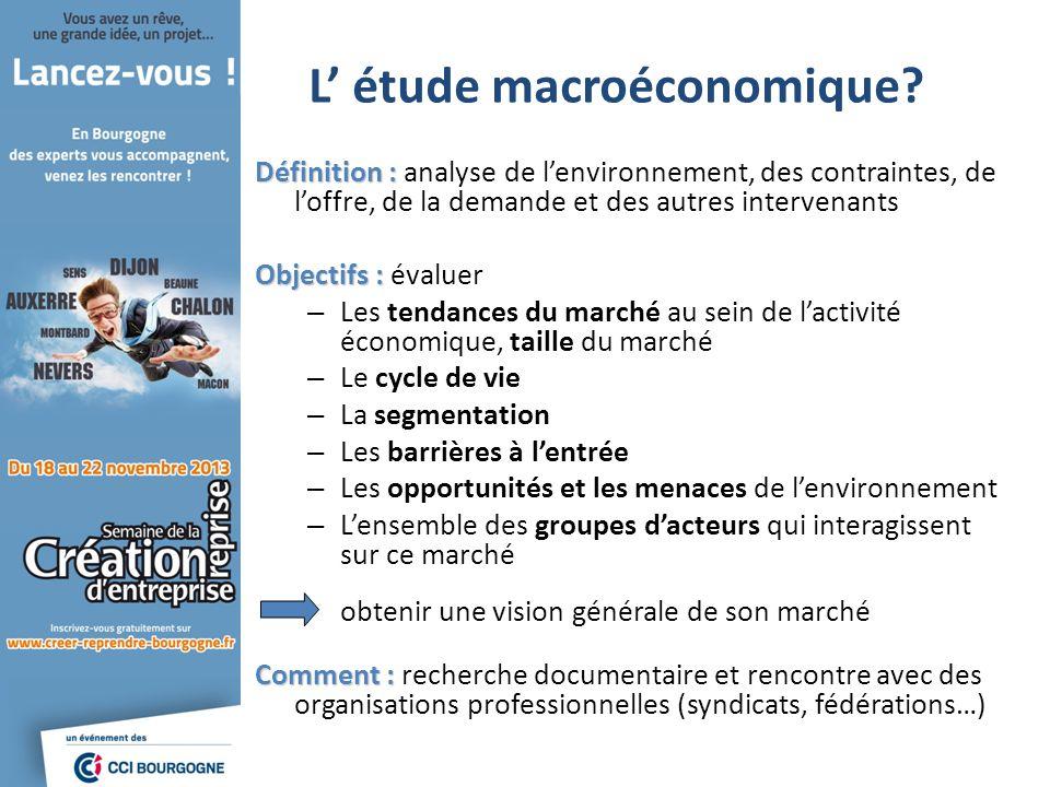 L' étude macroéconomique