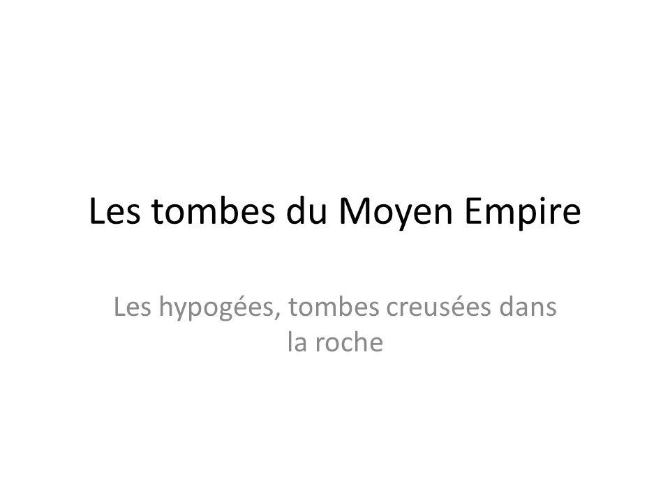 Les tombes du Moyen Empire