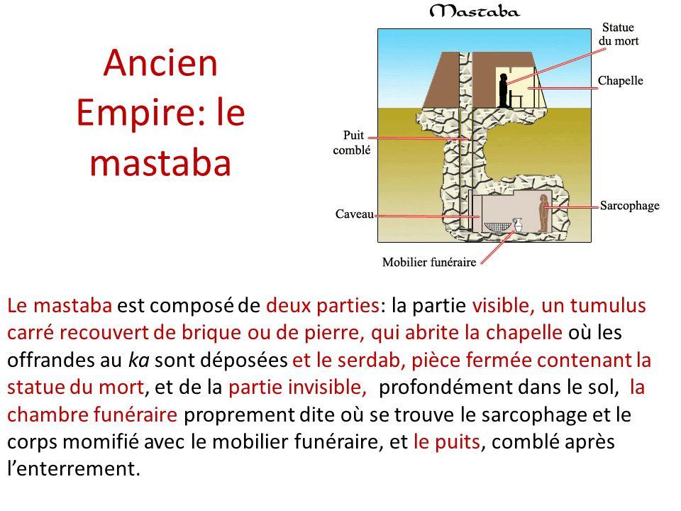 Ancien Empire: le mastaba