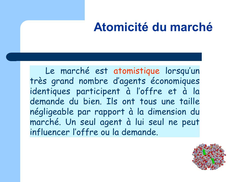Atomicité du marché