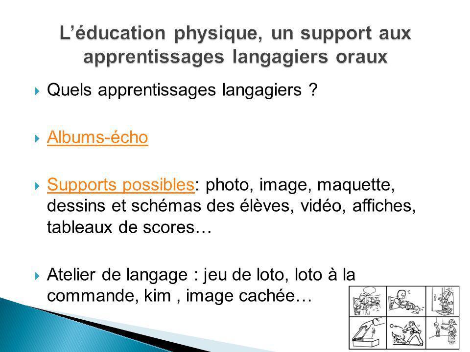 L'éducation physique, un support aux apprentissages langagiers oraux