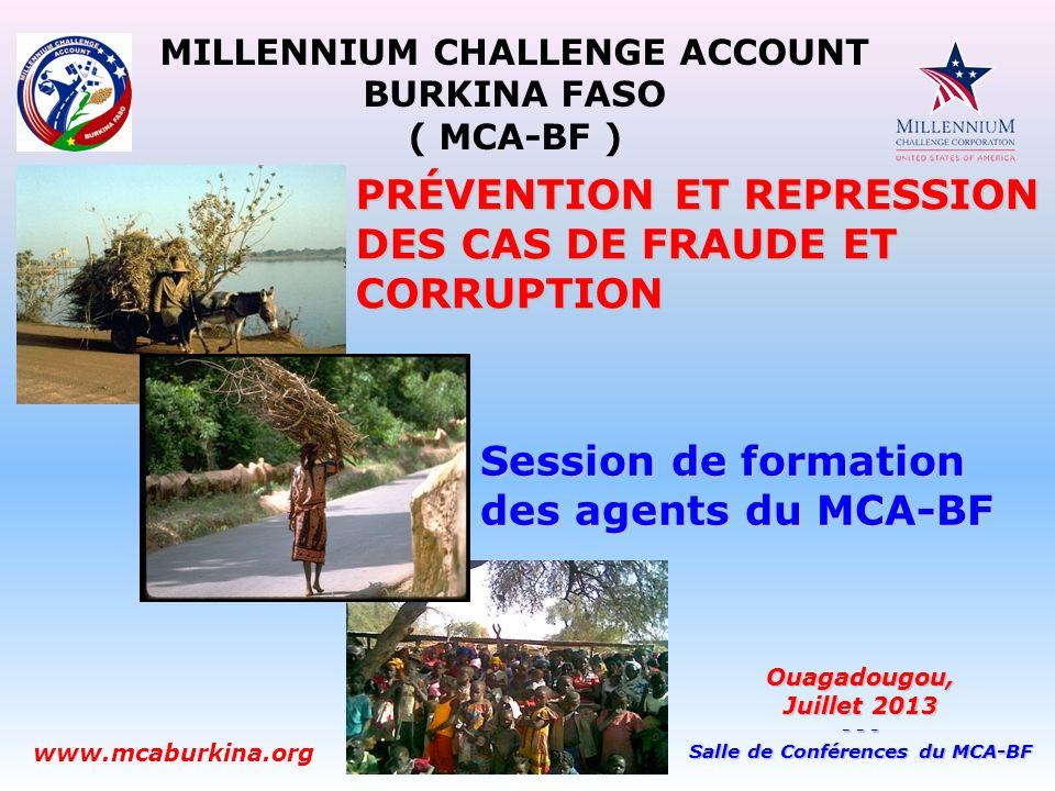 MILLENNIUM CHALLENGE ACCOUNT Salle de Conférences du MCA-BF