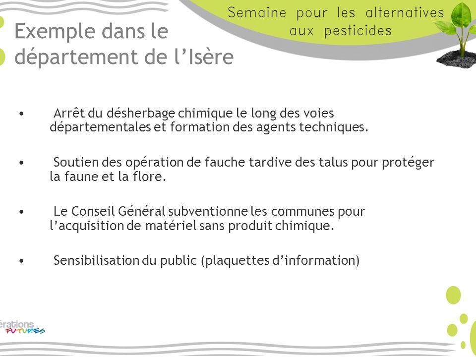 Exemple dans le département de l'Isère
