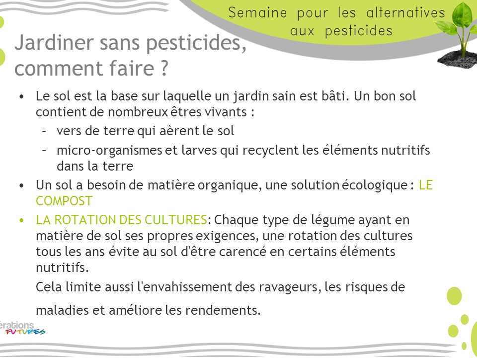 Jardiner sans pesticides, comment faire