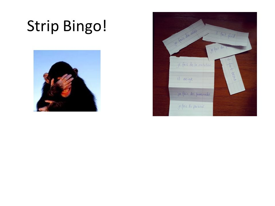 Strip Bingo!