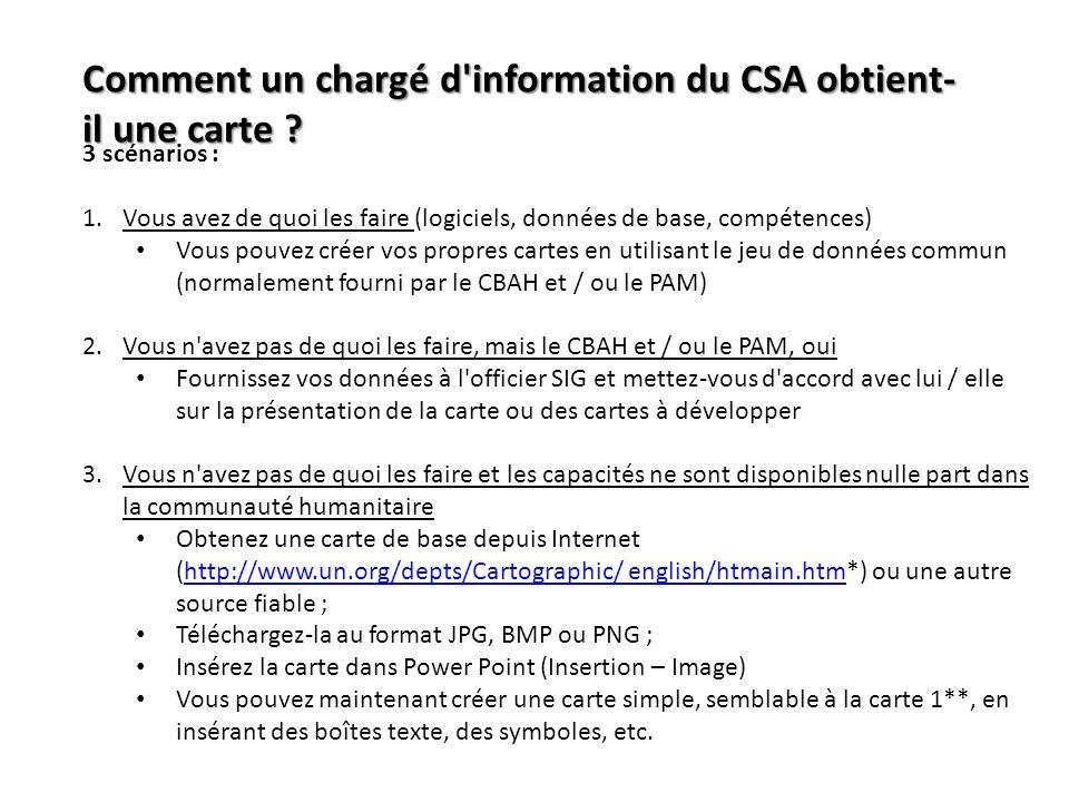 Comment un chargé d information du CSA obtient-il une carte