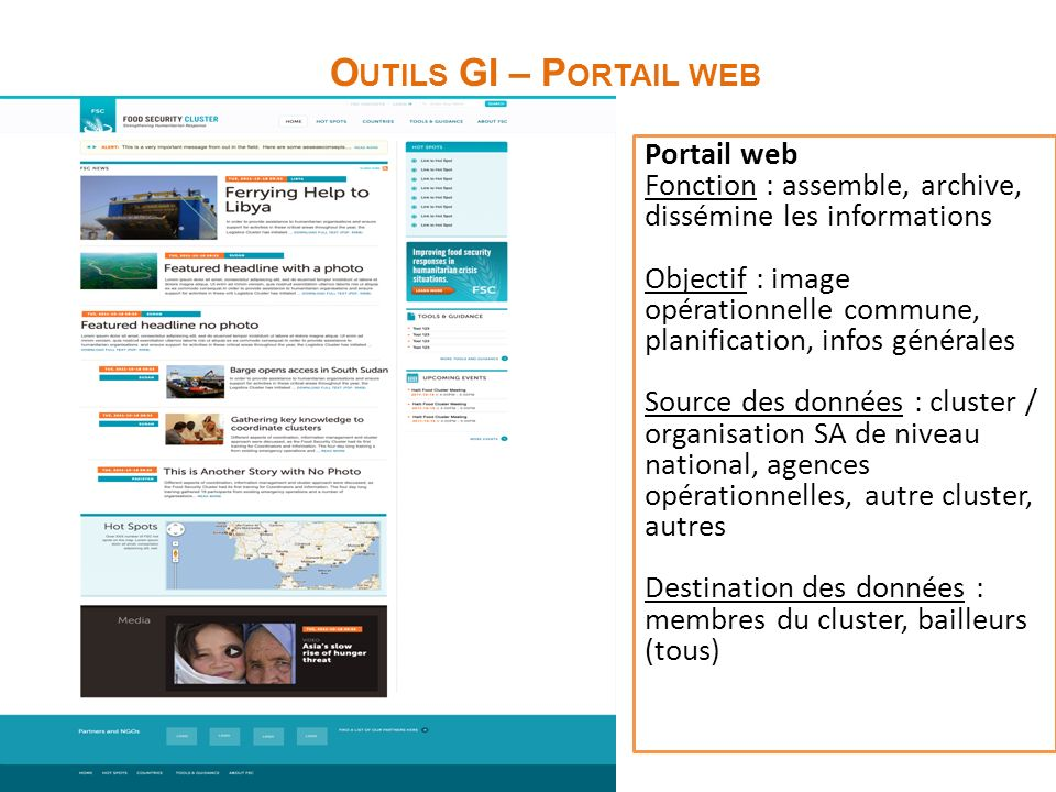 Outils GI – Portail web Portail web
