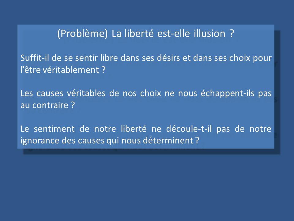 (Problème) La liberté est-elle illusion