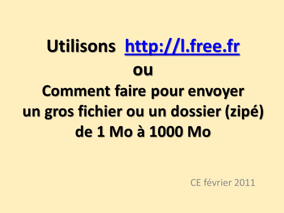 Utilisons http://l. free