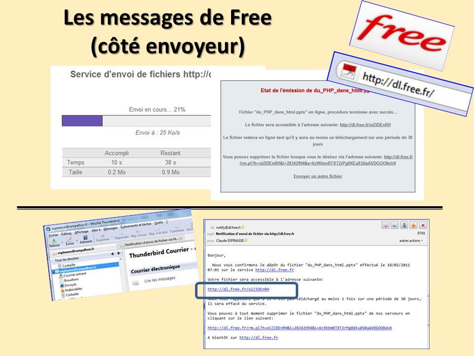 Les messages de Free (côté envoyeur)