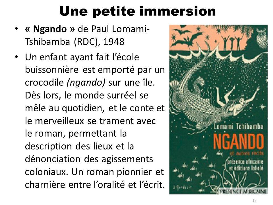 Une petite immersion « Ngando » de Paul Lomami-Tshibamba (RDC), 1948