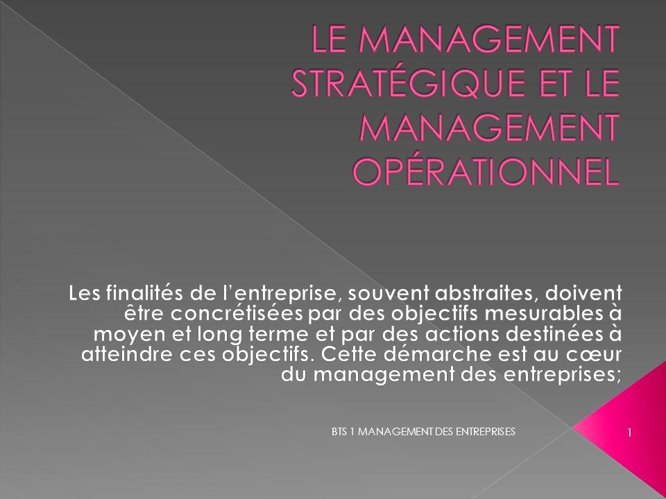 le management stratégique et le management opérationnel