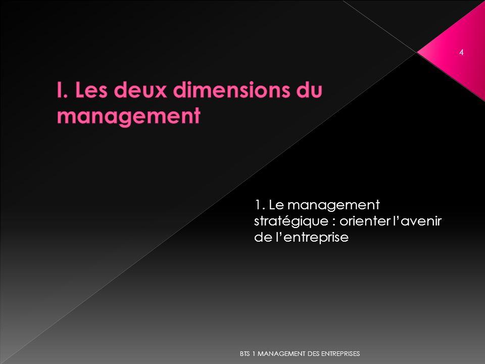 I. Les deux dimensions du management