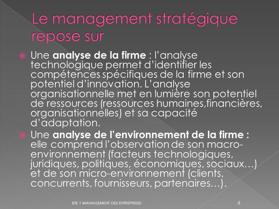 Le management stratégique repose sur