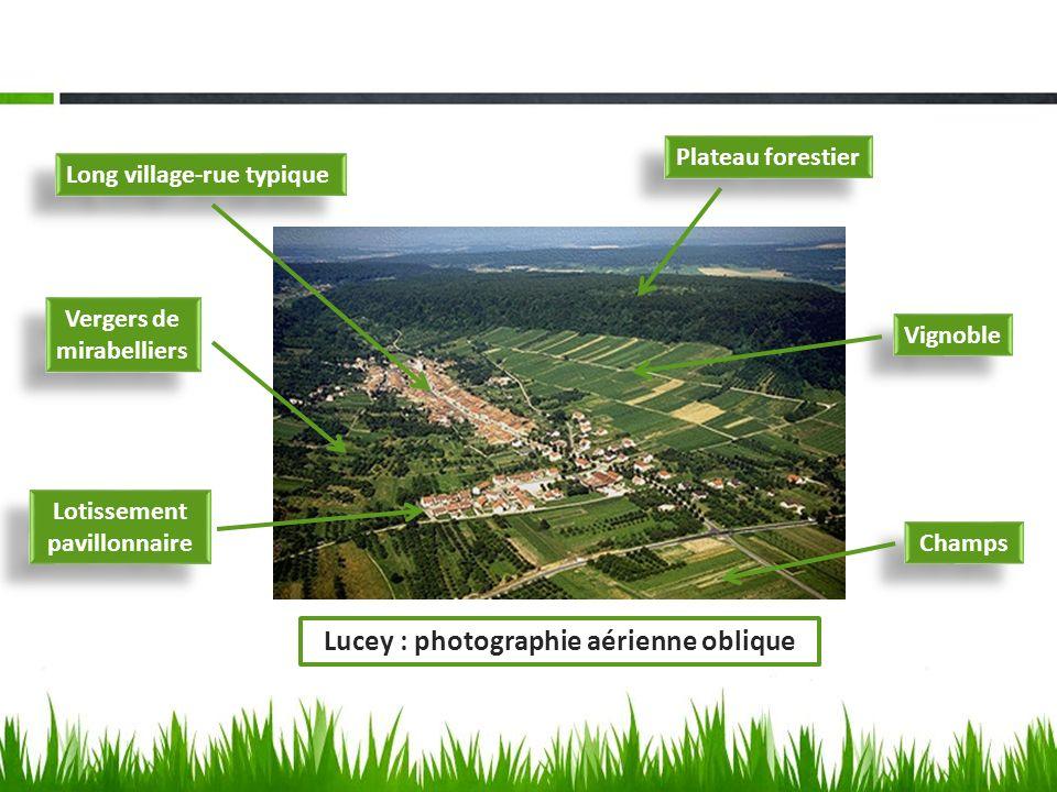 Lucey : photographie aérienne oblique