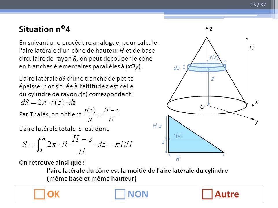  OK  NON  Autre Situation n°4 z