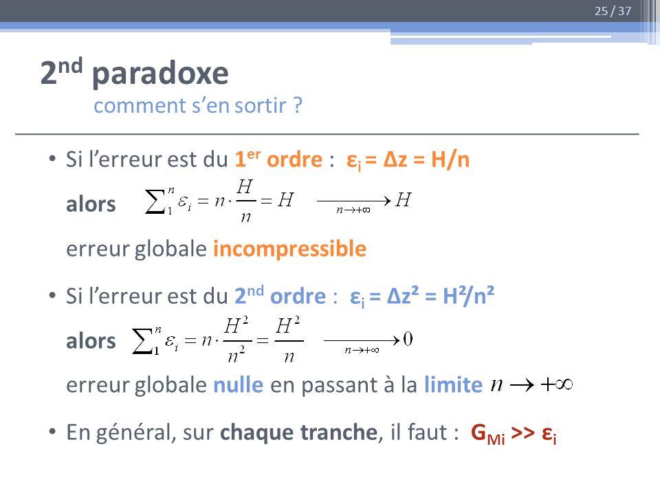 2nd paradoxe comment s'en sortir