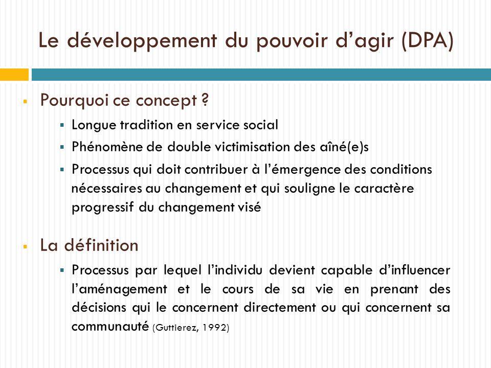 Le développement du pouvoir d'agir (DPA)