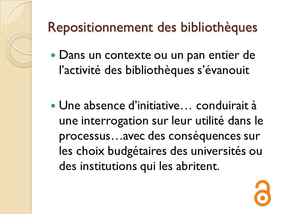 Repositionnement des bibliothèques