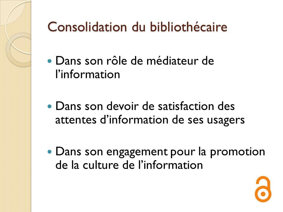 Consolidation du bibliothécaire