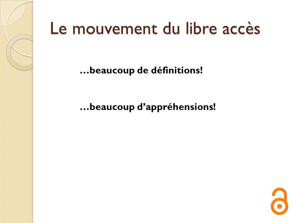 Le mouvement du libre accès