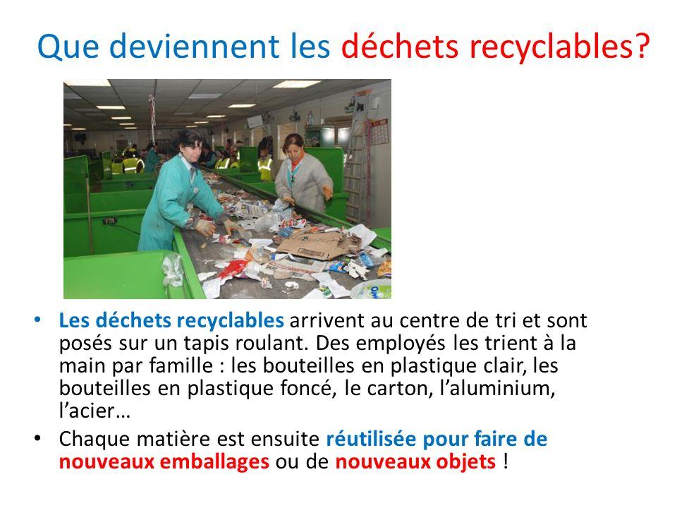 Que deviennent les déchets recyclables